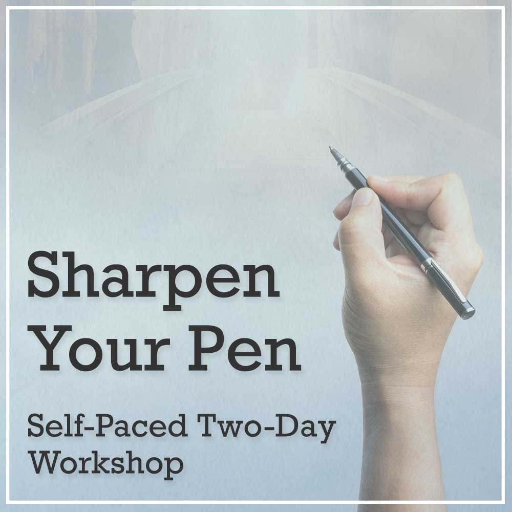 Sharpen Your Pen Self-Paced Workshop